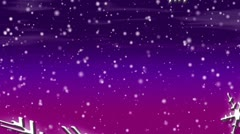 Let It Snow Loop Purple-Pink Sky Stock Footage