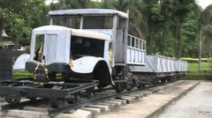 Railway Museum vehicle Kanchanaburi Stock Footage