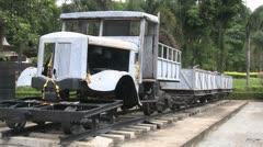 Railway Museum vehicle Kanchanaburi Stock Footage