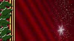 Holly Snow Red Gradient Loop - stock footage