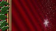Stock Video Footage of Holly Snow Red Gradient Loop