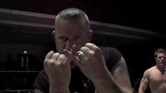 WWE & TNA wrestler Road Dogg poses for the camera Stock Footage