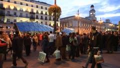 Madrid sol7 Stock Footage