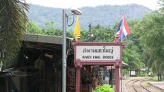 River Kwai railway station Stock Footage
