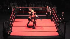 WWE & TNA Wrestler D'Lo Brown - Long move sequence Stock Footage