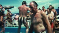 Cruise Ship Party Funny Dance Loop - Vintage Super8 Film Stock Footage