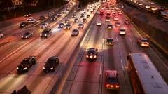 Cars on Freeway - stock footage