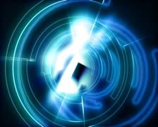 Pyörivä Portal Gateway Tausta Loop Arkistovideo
