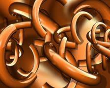 Rotating Bronze Semi-Circles Background Loop - stock footage