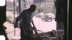 Making Wooden Shoes Holland, Michigan Circa 1951 (Vintage Film Home Movie) 1131 Stock Footage