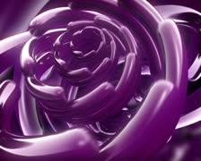 Purple Space Flower Background Loop Stock Footage