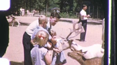 AMIMAL LOVE Petting Zoo Kids Family Kids DAD1960s Vintage Film Home Movie 1133 Stock Footage