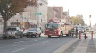 FDNY Engine backing into station Stock Footage