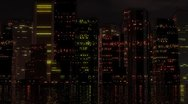 Abstract city at night Stock Footage