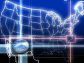 Stock Video Footage of USA News Map Background Loop
