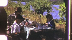 Family Picnic Lunch Circa 1955 (Vintage Film 8mm Home Movie) 1136 Stock Footage