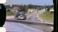 Stock Video Footage of Car Ride Through Countryside Parkway Travel 1940s Vintage Film Home Movie 1139