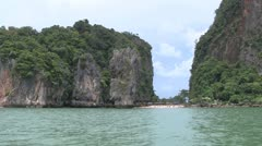 James Bond Island, Phuket Stock Footage