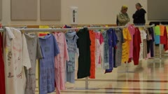 Clothesline Project Abuse story college P HD 8475 Stock Footage