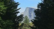 Stock Video Footage of Half Dome Afternoon-B
