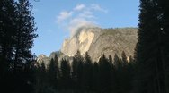 Stock Video Footage of Half Dome Late Afternoon