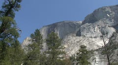 Half Dome Low Angle - stock footage