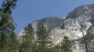 Stock Video Footage of Half Dome Low Angle