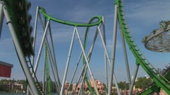 WorldClips-Hulk Coaster-ws - stock footage