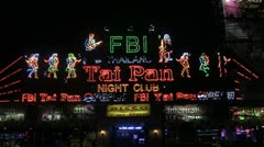 FBI Bar and Club in Patong, Phuket, Thailand Stock Footage