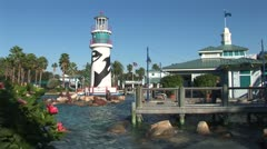WorldClips-SeaWorld Entrance Pier Stock Footage