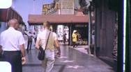 Hollywood MOVIE STAR Footprints Grauman's 1960 Vintage Film Home Movie 1151 Stock Footage