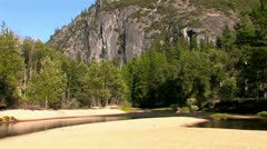 A Small Stream in Yosemite National Park Stock Footage