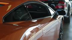 Lamborghini Gallardo Superleggera in garage Stock Footage