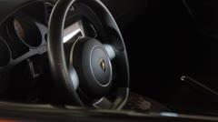 Lamborghini Gallardo Superleggera interior Stock Footage