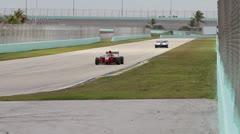 Ferrari F430 on Track Stock Footage