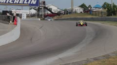Formula Race Cars on Track Stock Footage