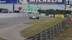 Formula Race Cars on Track - stock footage
