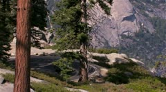 Road In Yosemite National Park Stock Footage