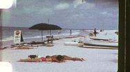 People At the Beach Summer Relaxing Sun Sand 1960s Vintage Film Home Movie 1158 Stock Footage