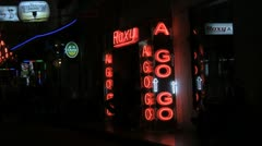 Roxy a Go Go Bar in Patong, Thailand Stock Footage