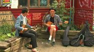 Street musicians Stock Footage