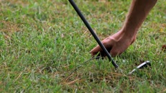 Golf playing Stock Footage