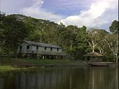 WorldClips-River Dwelling-pov Stock Footage