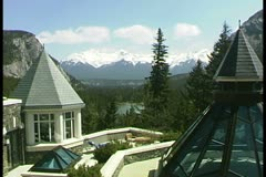WorldClips-Banff Fairmont Bow Lookout-2 Stock Footage