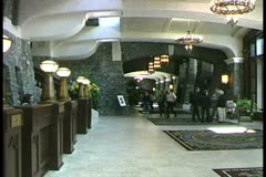 WorldClips-Banff Fairmont Lobby Stock Footage