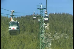 WorldClips-Banff Gondola-pov-3 Stock Footage
