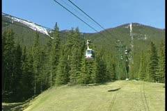 WorldClips-Banff Gondola Stock Footage