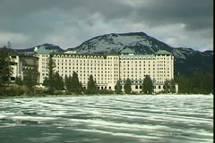 Stock Video Footage of WorldClips-Chateau Lake Louise-zoom