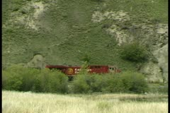 WorldClips-CP Train-ws-pan Stock Footage