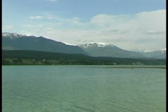 WorldClips-Invermere Lake Stock Footage